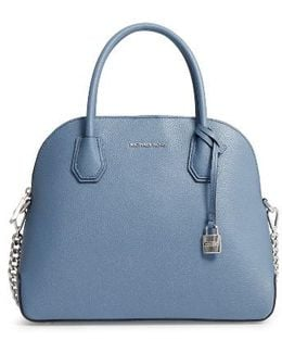 Michael By Michael Kors Large Mercer Leather Dome Satchel