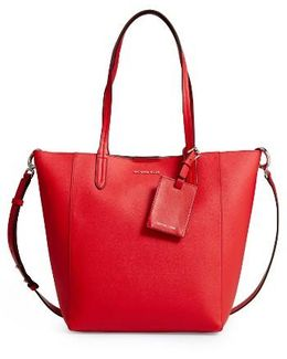 Penny Large Saffiano Convertible Leather Tote Bag