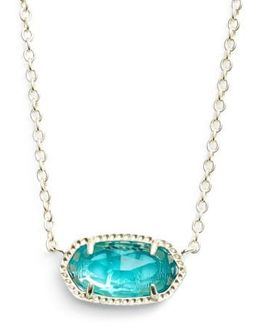 Elisa Birthstone Pendant Necklace