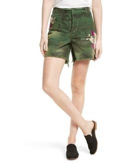 Camo Embroidered Scout Shorts