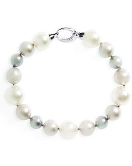 Simulated Pearl Strand Bracelet