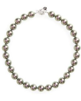 14mm Simulated Pearl Strand Necklace