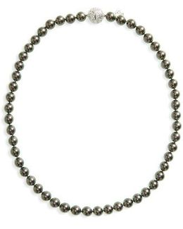 8mm Round Simulated Pearl Strand Necklace