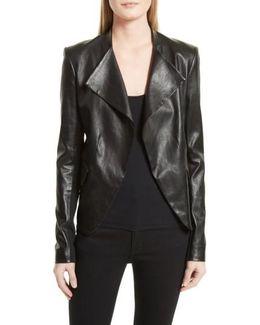 Bristol Peplum Leather Jacket