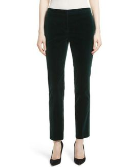 Stretch Velvet Tux Pants