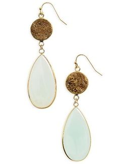 Drusy Stone Drop Earrings