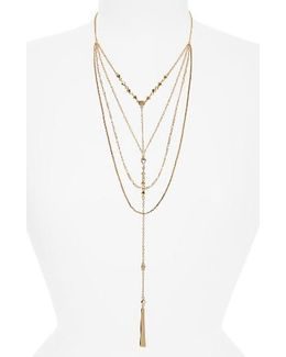 Layered Y-necklace