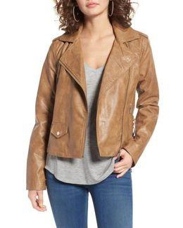 Kirwin Faux Leather Moto Jacket