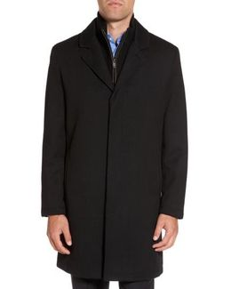 Modern Twill Topcoat With Removable Bib