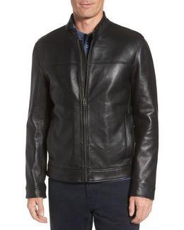 Bonded Leather Moto Jacket