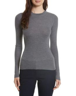 Ribbed Wool Blend Top