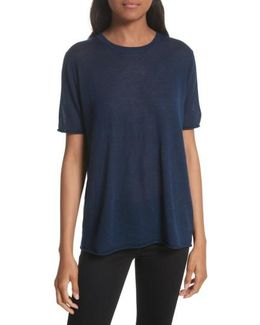 Short Sleeve Cashmere Tee