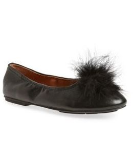Portia Flat With Faux Fur Pompom