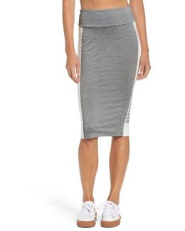 Archive Logo Pencil Skirt