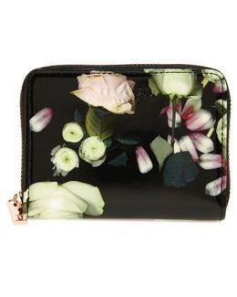 Mayycie Kensington Floral Leather Mini Purse