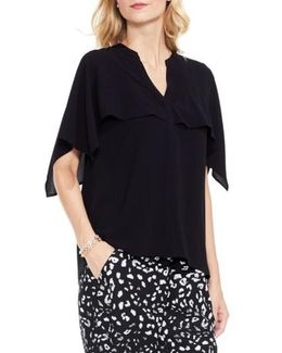 Capelet Overlay Blouse