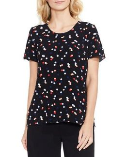 Multi Dot Colorblock Top