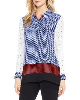 Foulard Border Georgette Blouse