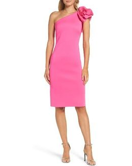 One Shoulder Sheath Dress