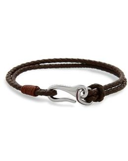 Twirl Braided Leather Bracelet