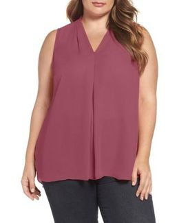 Sleeveless Inverted Pleat Top