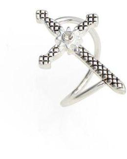 Serpent Cross Ring