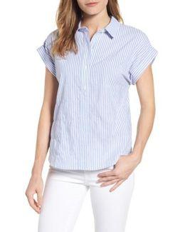 Stripe Dolman Sleeve Shirt