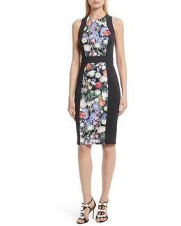 Akva Kensington Floral Body-con Dress