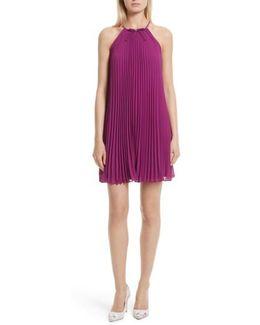 Emelay Bow Detail Pleat A-line Dress
