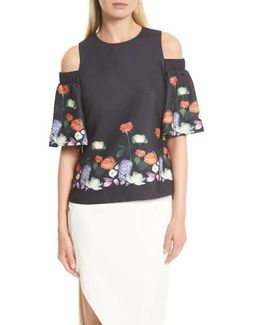 Amarga Kensington Floral Cold Shoulder Blouse