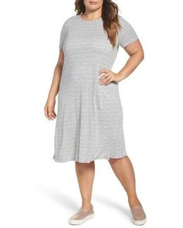 Delicate Stripe T-shirt Dress