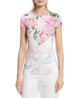 Maiini Painted Posie Fitted Tee
