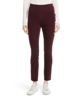 Navalane Velvet High Waist Ankle Pants