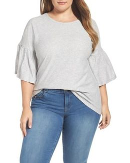 Vince Camuto Relaxed Bell Sleeve Cotton Tee