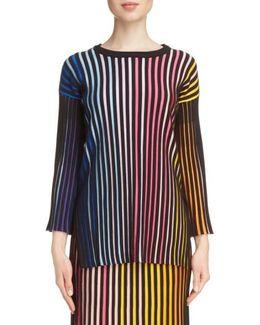 Stripe Rib Knit Sweater