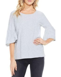 Relaxed Bell Sleeve Cotton Tee