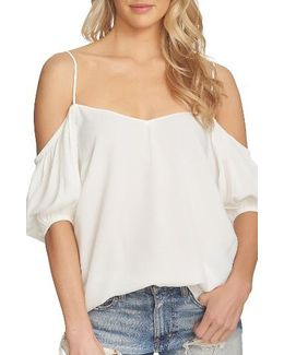 Balloon Sleeve Off The Shoulder Top
