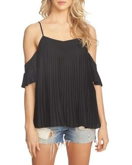 Pleated Off The Shoulder Top
