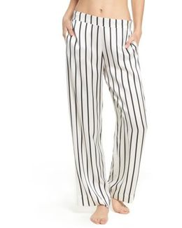 Stripe Silk Pajama Pants