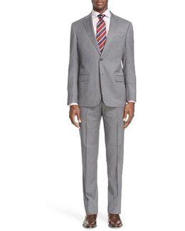 'g-line' Trim Fit Solid Wool Suit