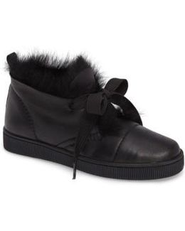 Parley Genuine Shearling & Leather Sneaker