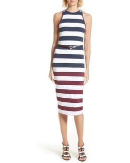 Yuni Stripe Body-con Dress