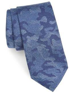 Morada Camo Silk & Cotton Tie
