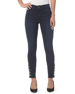 Ami Exposed Button Stretch Skinny Jeans