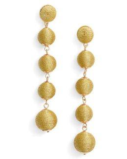 Metallic Crispin Ball Statement Earrings