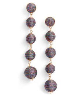 Metallic Crispin Ball Statement Earrings