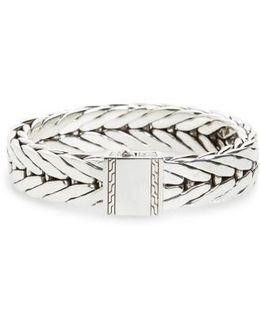 Modern Chain Wide Line Bracelet