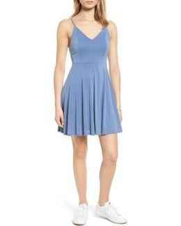 Cross Back Fit & Flare Dress