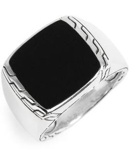 Classic Chain Signet Ring