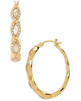 Tropical Touches Hoop Earrings